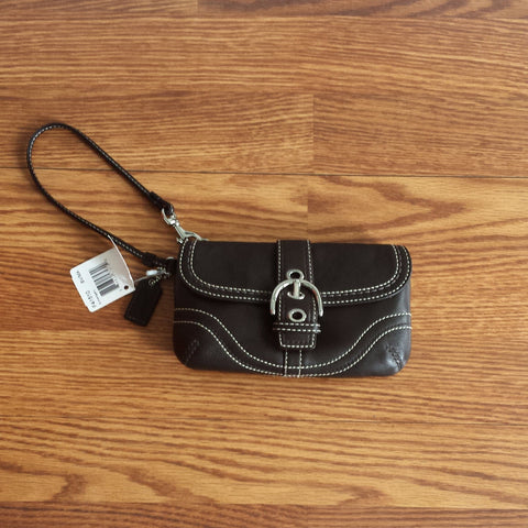 Authentic Coach Leather Wristlet (NWT)