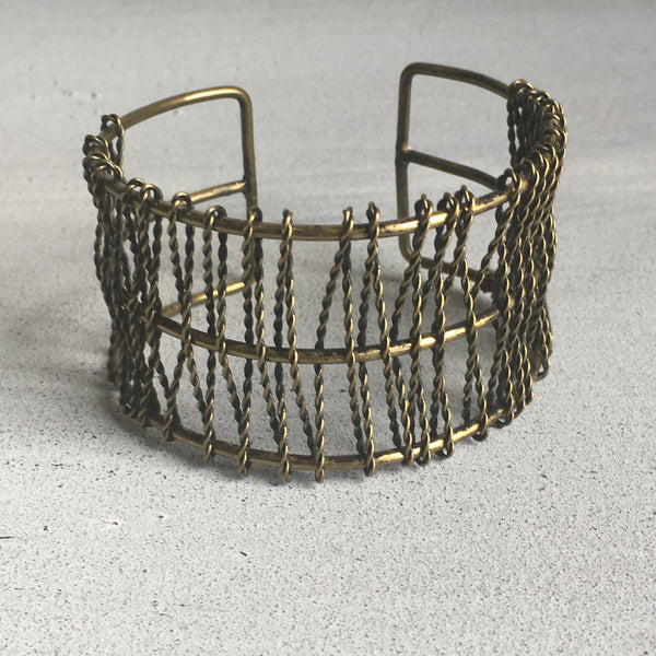 Antique Gold Wire Bracelet