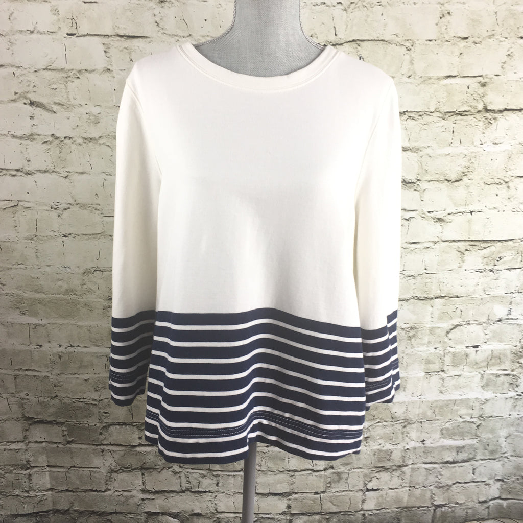 Long-Sleeve French Terry Sweater