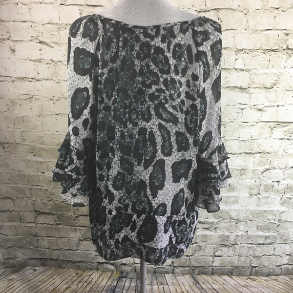 3/4 Sleeve Animal Print Top