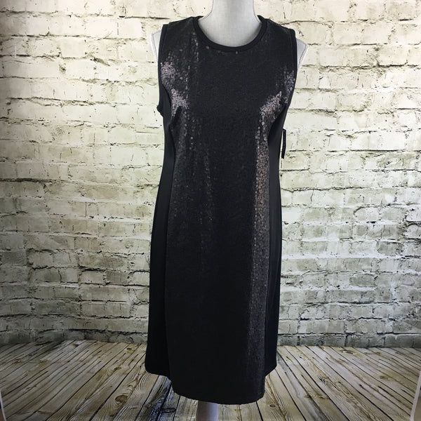Black Sleeveless Sequin Dress