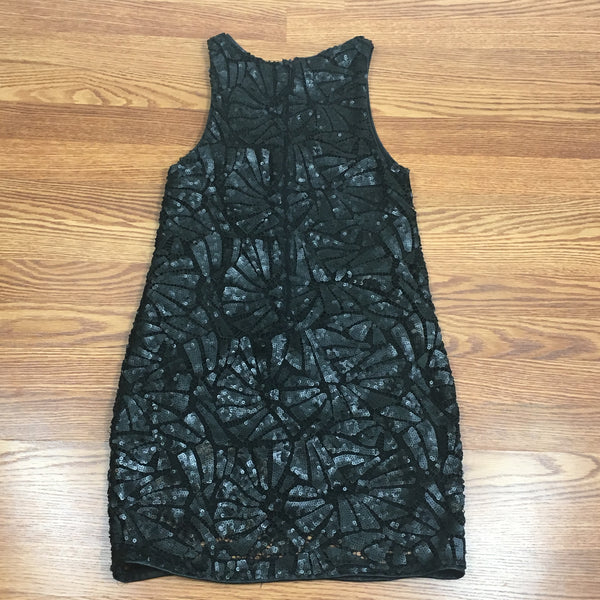 Black Matte Sequin Dress