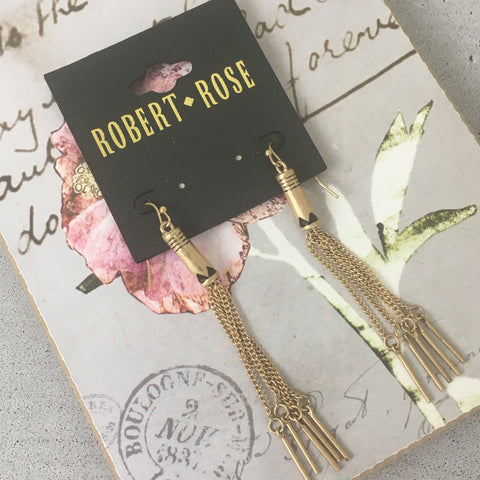 Gold Chain Tassel Earrings (NWT)