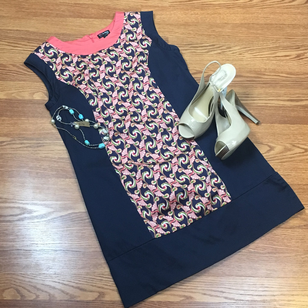 Sleeveless Print Shift Dress