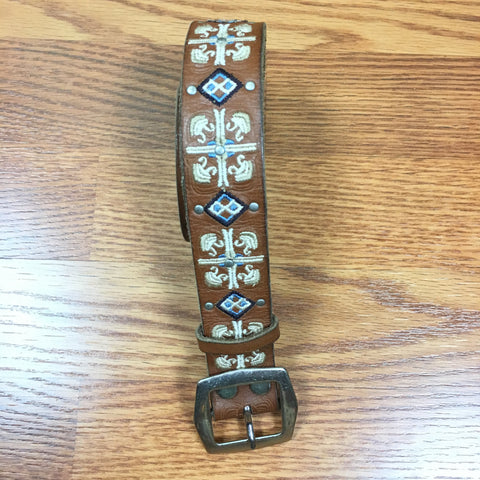 Leather Embroidered Belt
