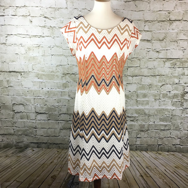 Short Sleeve Knit Print Dress