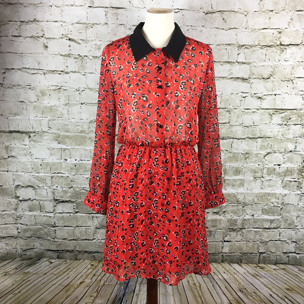 Long Sleeve Print Dress
