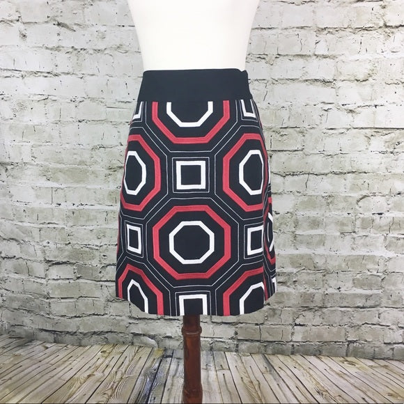 Ann Taylor Embroidered Print Skirt (Size 8)