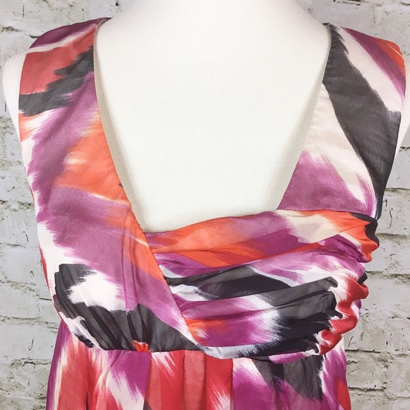 Sleeveless Silk Print Top