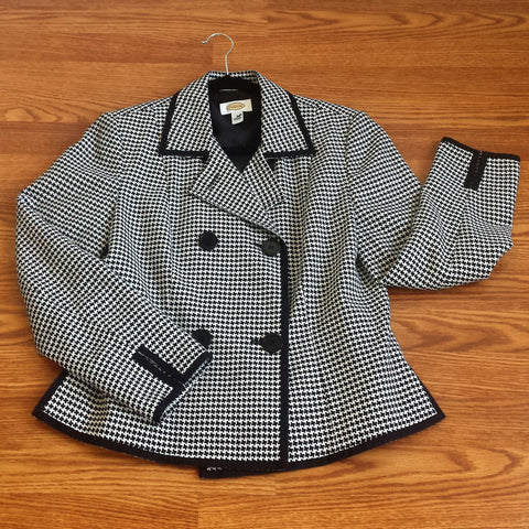 Talbot's Houndstooth Jacket
