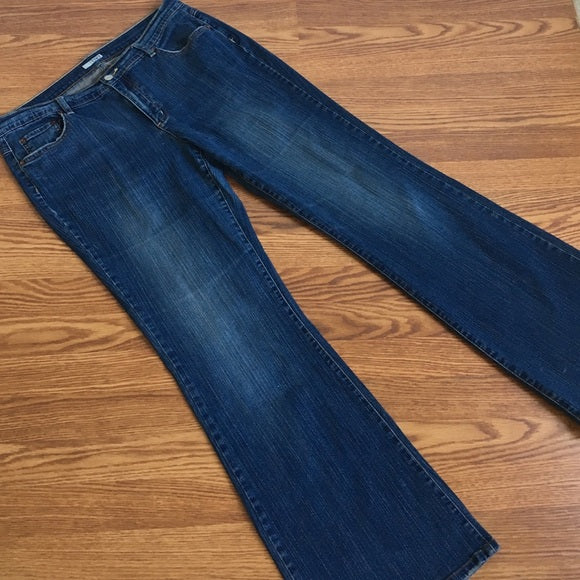 Tint Lightly Distressed Boot Cut Jeans