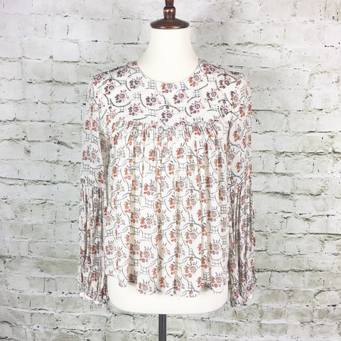 Floreat Print Beaded Top
