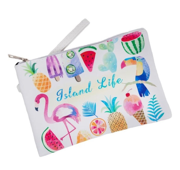 "Faux Leather Wristlet ""Island Life"""