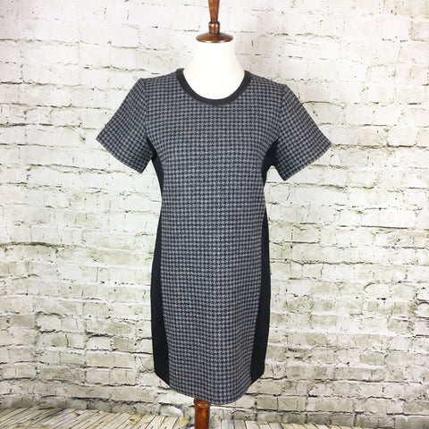 Leather Trim Wool Shift Dress (NWT)
