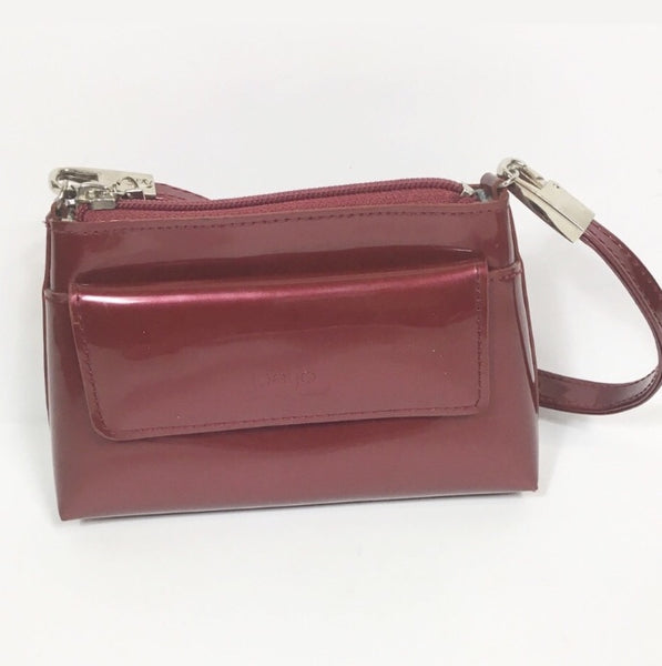 Red Patent Cross Body Handbag
