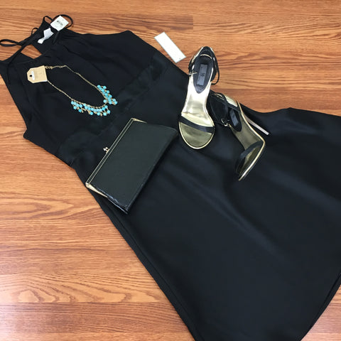 Ann Taylor Black Halter Dress (NWT)