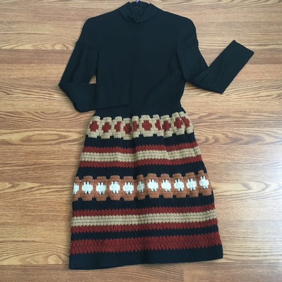Vintage Crocheted Dress - 1970's