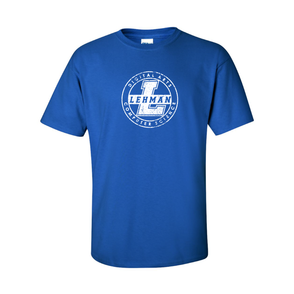T-Shirt with 'Distressed' White School Logo (Multiple Colors)