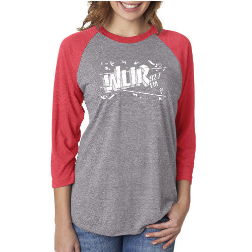 Space Oddity (WLIR raglan grey/red) - GARAGE68, Inc.