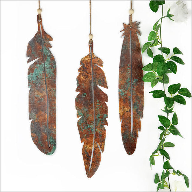 Printed Feathers Set (Copper Patina)