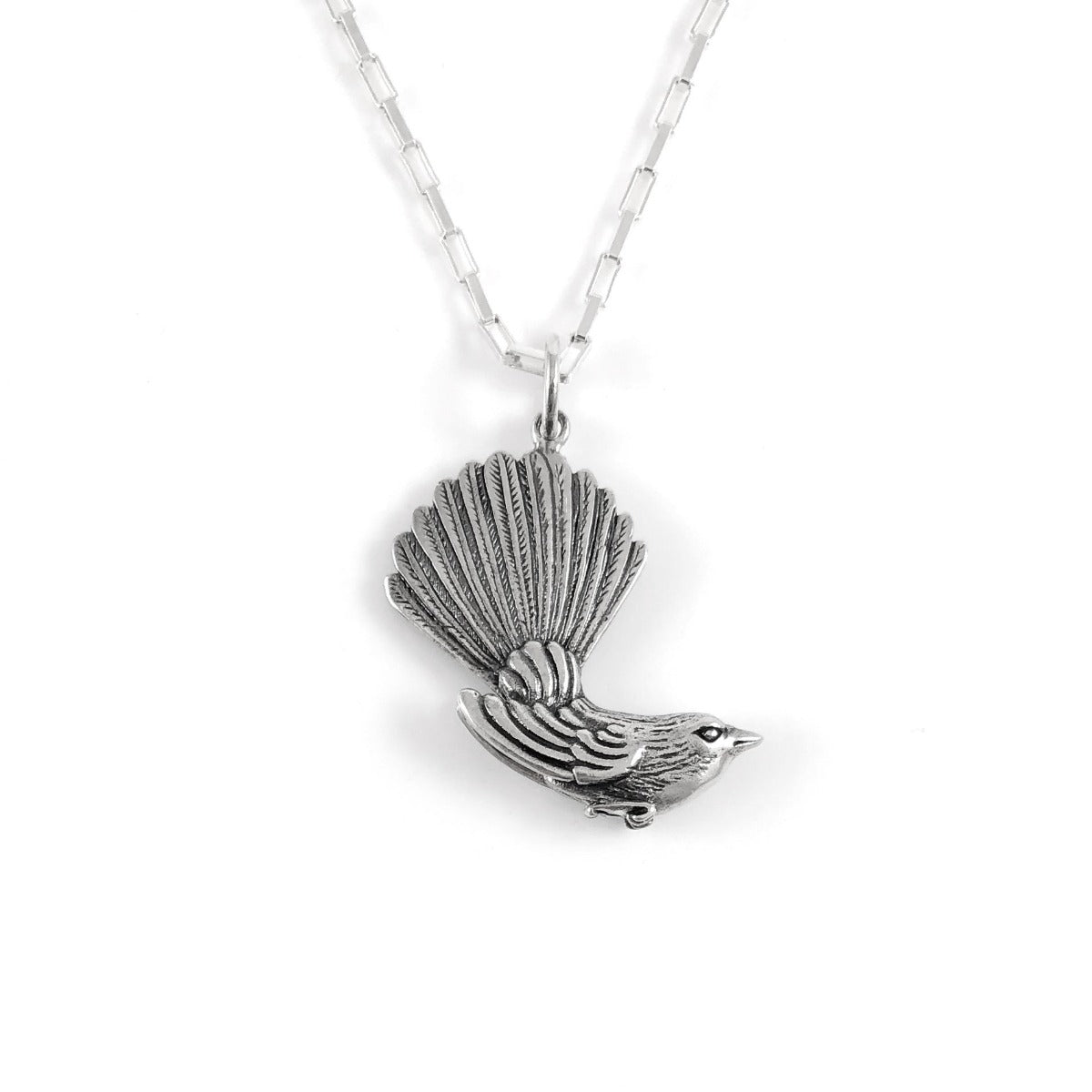 jade kiwi kaikoura sterling silver fantail necklace