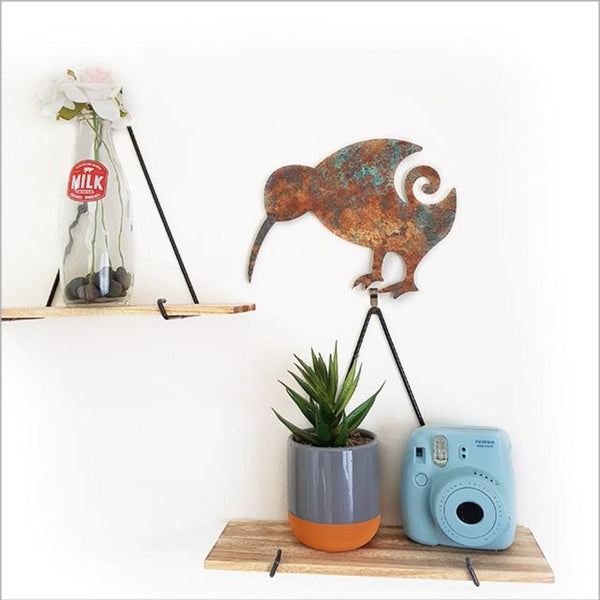 Copper patina Kiwi wall art Jade Kiwi Gifts