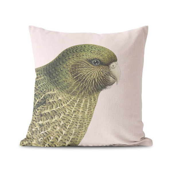 jade kiwi kaikoura gifts cushion cover native bird kakapo