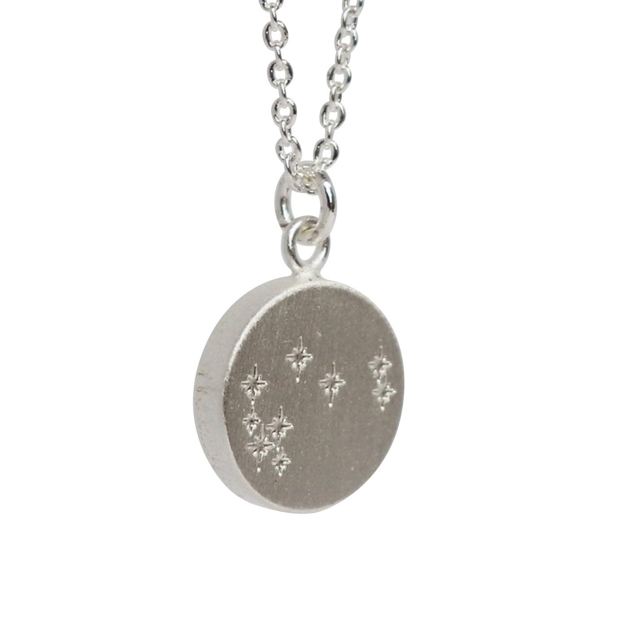 Keke Silver mystical maratiki constellation stars etched silver necklace NZ jewellery