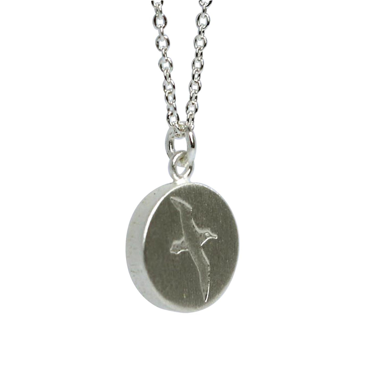 Keke Silver Almighty Albatross bird etched silver necklace NZ jewellery