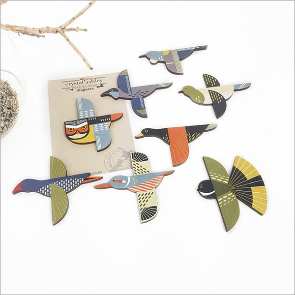 Folk Birds Magnets