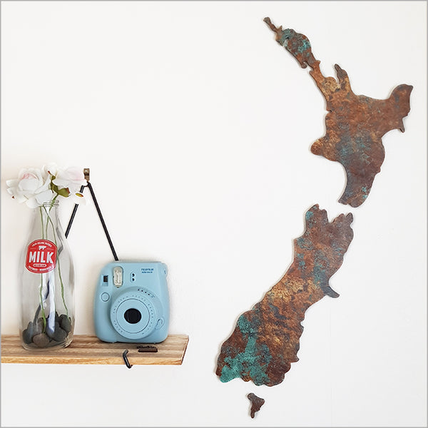 New Zealand Map wall art Jade Kiwi gifts