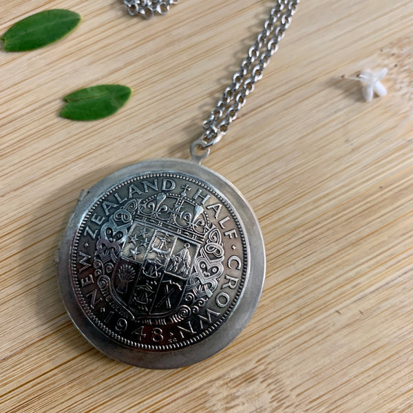 One Florin Locket Necklace