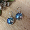 Mabe Pearl  Sterling Silver Earrings