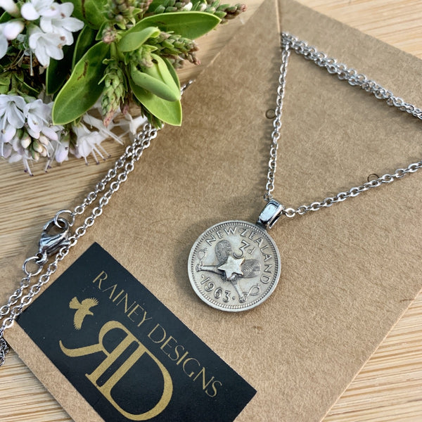 Petite Threepence Coin Necklace