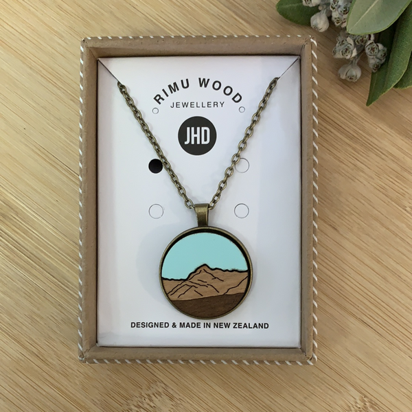 JHD Rimu wood Mountain Necklace