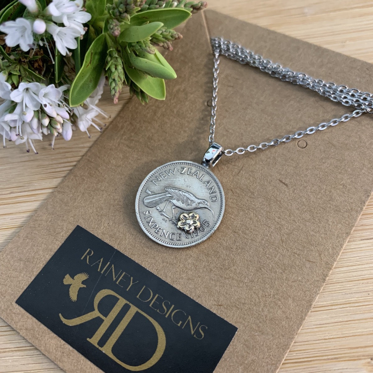 Petite Sixpence Coin Necklace