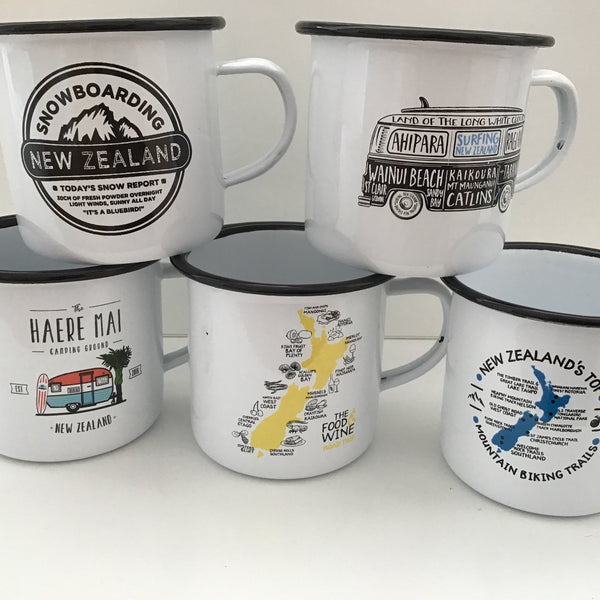Moana Road Enamel mugs
