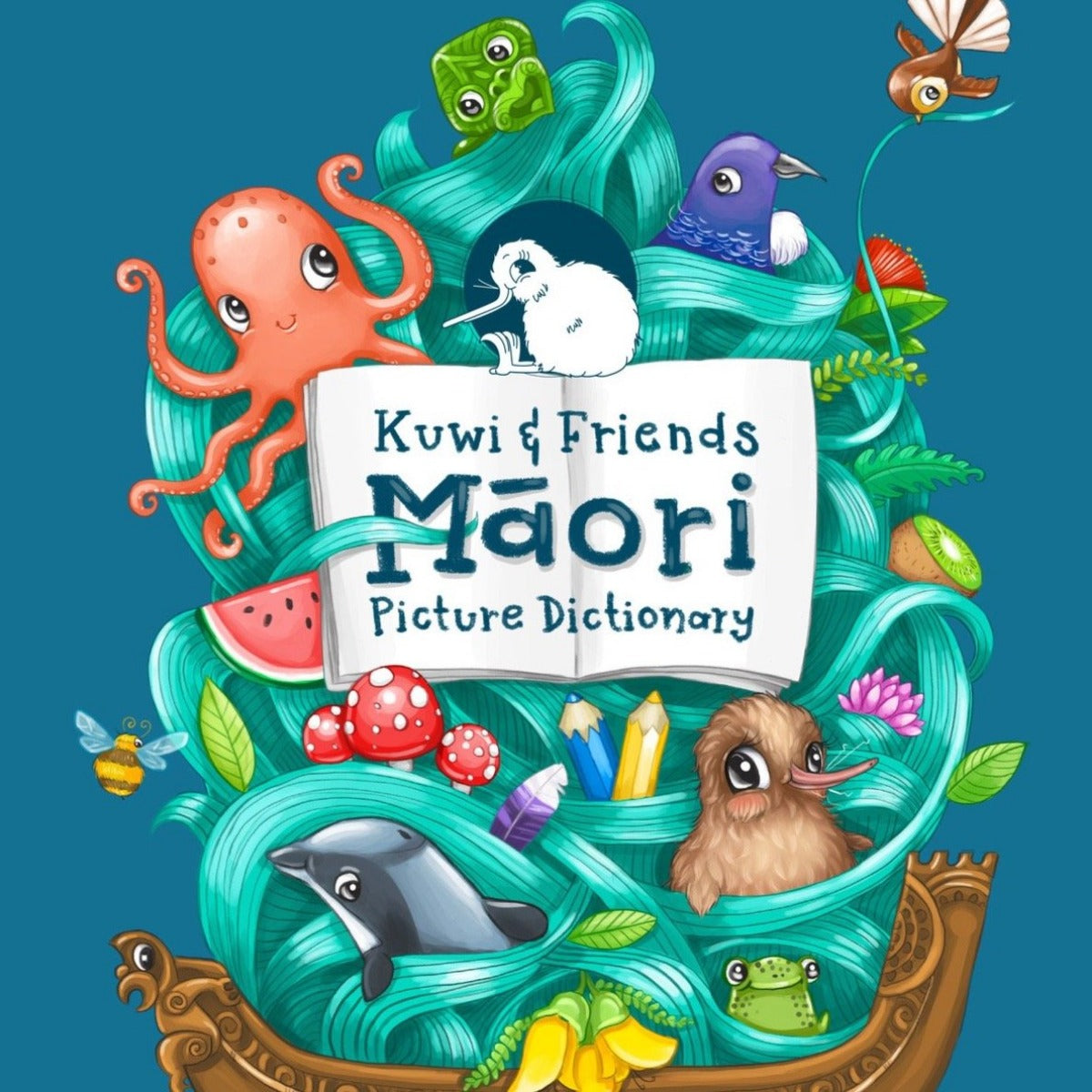 Kuwi and Friends Maori Picture Dictionary