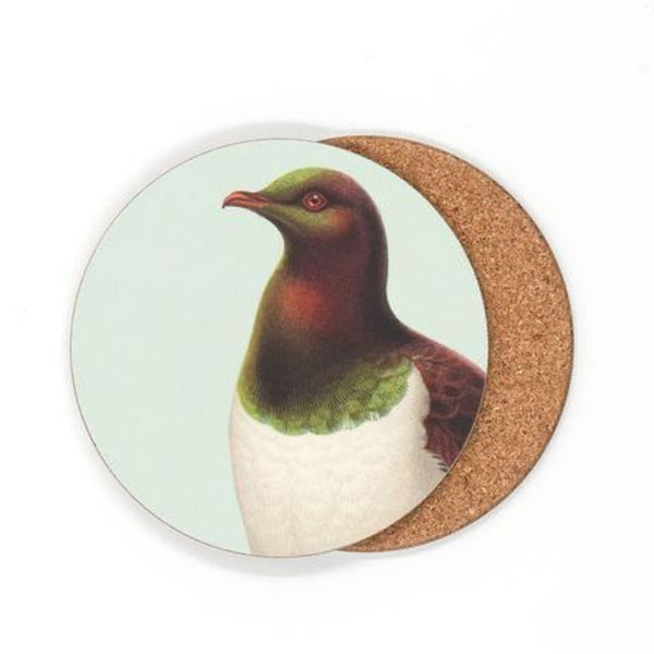 jade kiwi kaikoura gifts native bird coasters kereru