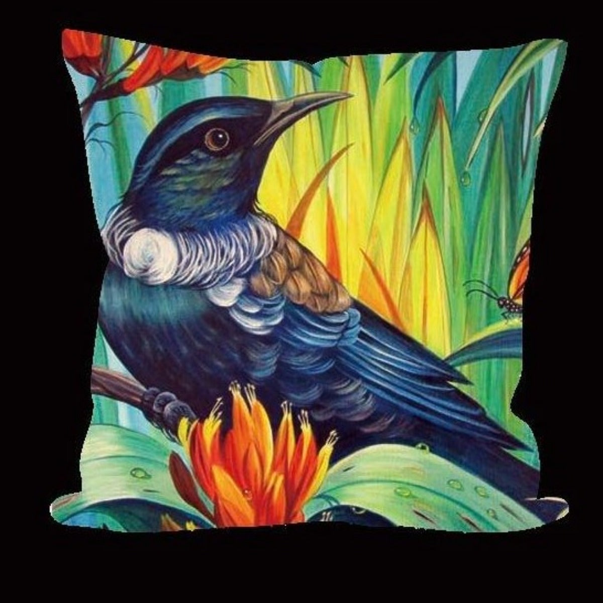 jade kiwi kaikoura gifts kowhai tui cushion cover