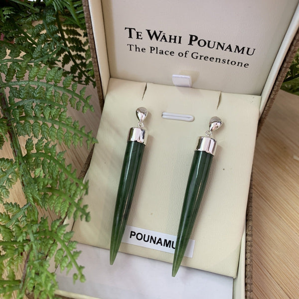 jade kiwi kaikoura gifts pounamu sterling silver earrings