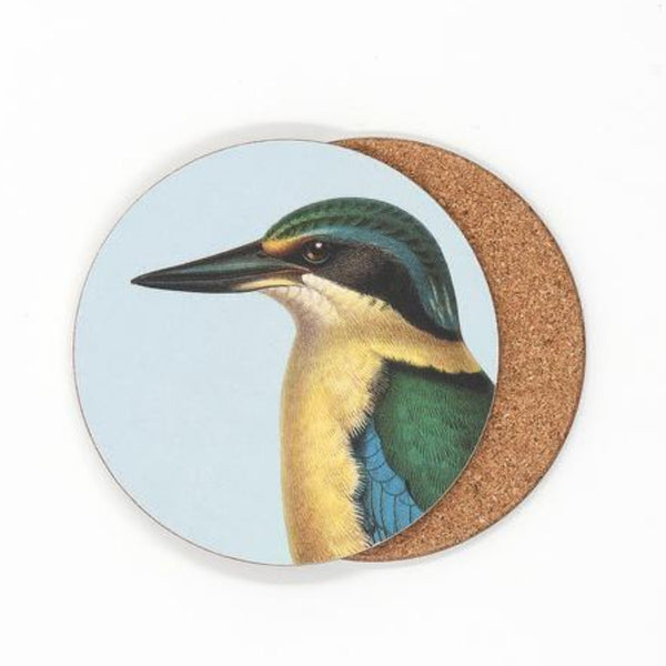 jade kiwi kaikoura gifts native bird coasters kingfisher