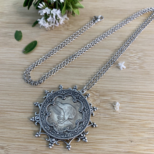 One Florin Snowflake Necklace