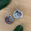 Sterling silver kiwi with silver fern earrings