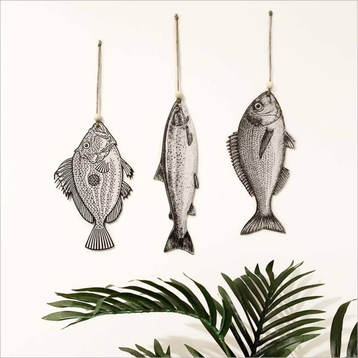 Printed Vintage Fish Set