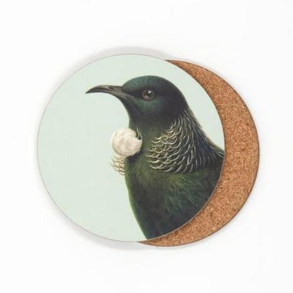 jade kiwi kaikoura gifts native bird coasters tui