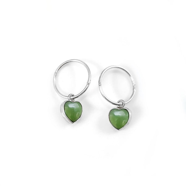 Pounamu Heart Earrings