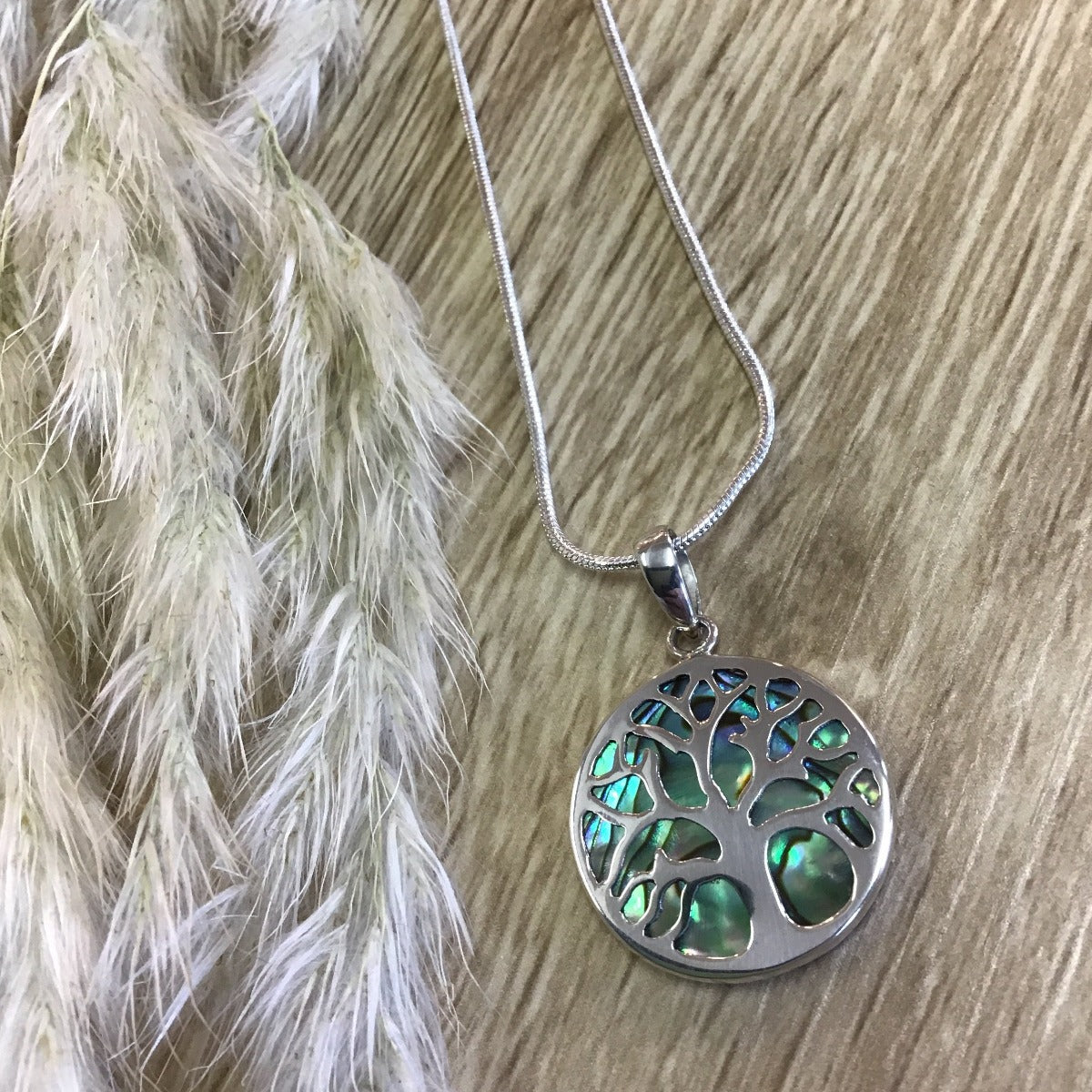 jade kiwi kaikoura sterling silver necklace pendant tree of life paua shell