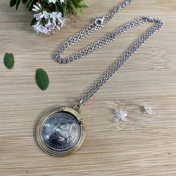 One Shilling Pendant Necklace