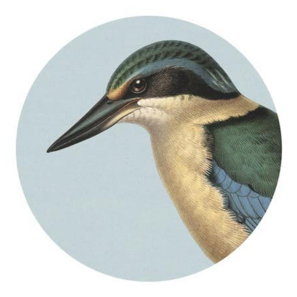 jade kiwi kaikoura gifts placemats native bird kingfisher